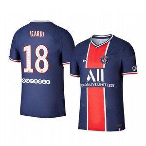 Paris Saint-Germain Mauro Icardi Blue Jersey 20-21
